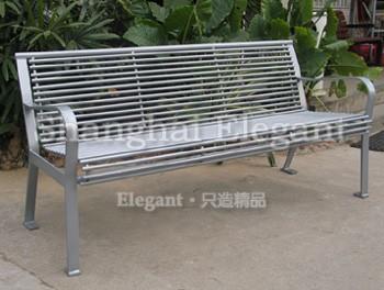 雅亮钢结构城市休闲座椅-雅悠·中国垃圾桶制造专家