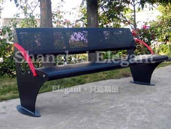 都雅钢结构城市休闲座椅-雅悠·中国垃圾桶制造专家